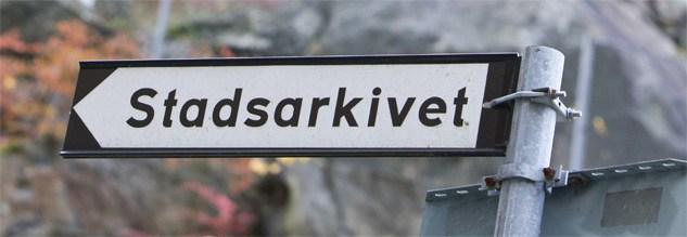 Vägvisare till Stadsarkivet, Kungsklippan 6, Stockholm Källa: Stockholms Stadsarkiv